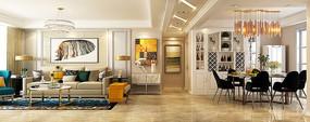 高档现代风格室内模型素材