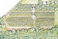 生态农场彩色平面图