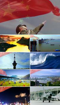 中国梦歌曲国风表演背景视频