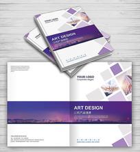 紫色大气商务风公司画册封面