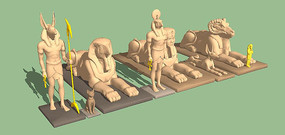 埃及神像组合