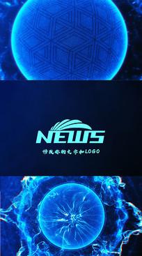 粒子logo片头展示ae模板