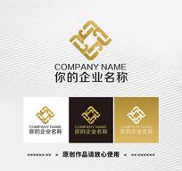 金色T字母银行金融LOGO