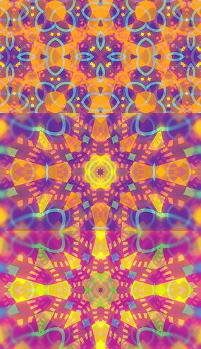 4K絢麗花紋背景視頻素材