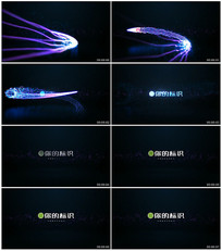 光束粒子企业LOGO演绎片头