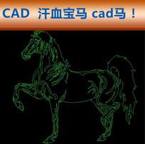 CAD马汗血宝马装饰图纸