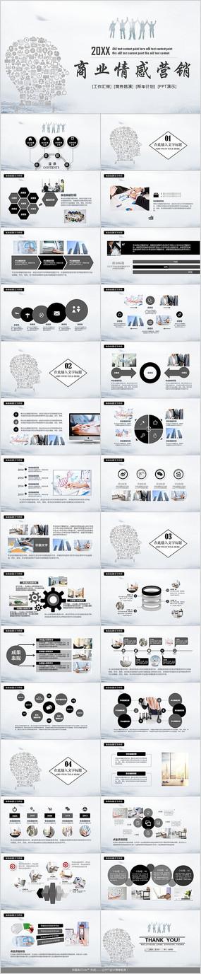 团队商业情感营销PPT模板