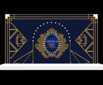 巴洛克简约婚礼背景设计