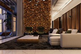 木柴元素客厅意向
