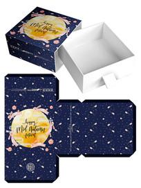 插画月饼盒模板设计