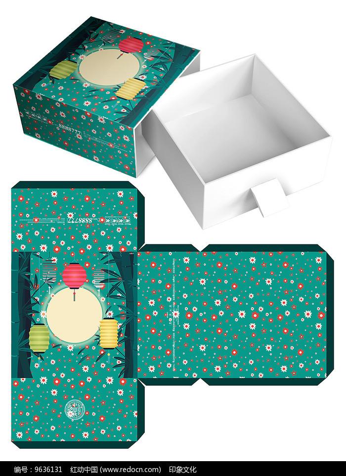 中秋节月饼包装礼盒模板图片