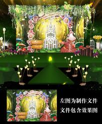 森系溶洞城堡婚礼背景设计
