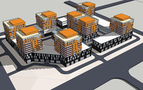 现代住宅su模型