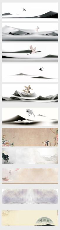 中国风传统水墨banner
