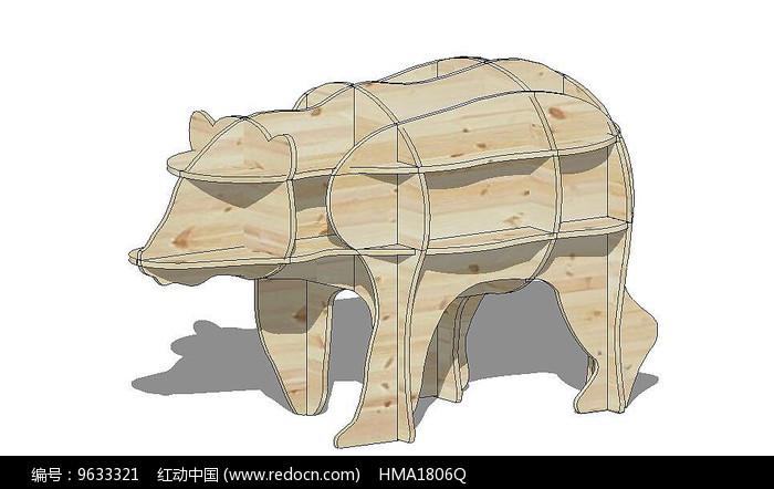 木质动物模型图片