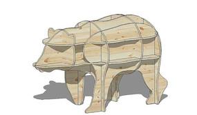 木质动物模型
