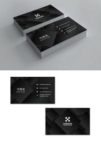 黑色高档商业名片模板