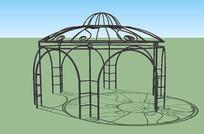 欧式花园花架