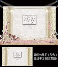大理石纹软包简约婚礼设计