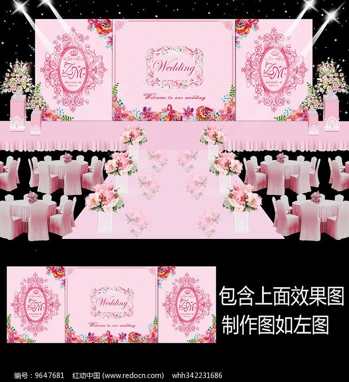 粉色花卉主题婚礼设计图片