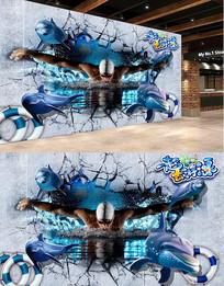 游泳背景墙