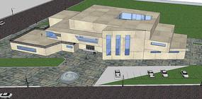 教学楼建筑模型