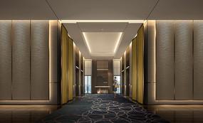 某希尔顿酒店电梯厅效果图