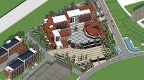 整体校园草图模型