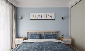 馬卡龍色北歐風臥室設計