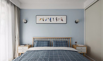 马卡龙色北欧风卧室设计
