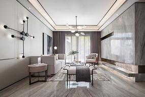 莫兰迪色客厅设计