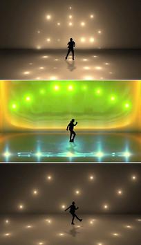 人物跳舞背景视频