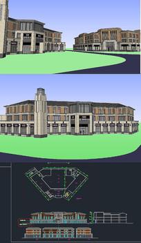 售楼处草图大师SU模型CAD