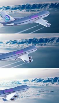 航空公司标志展示ae模板