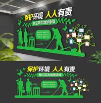 绿色大型绿色垃圾分类文化墙