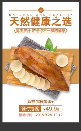 天山雪莲果水果店宣传海报