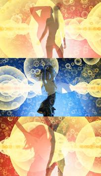 歌曲卡路里舞台背景视频