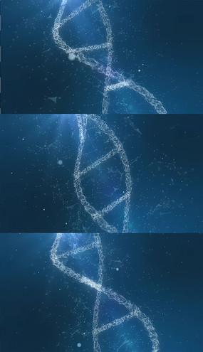 4K蓝色dna背景视频素材