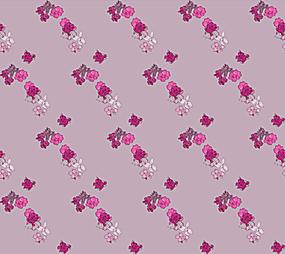 粉色小碎花交错阵列排布图