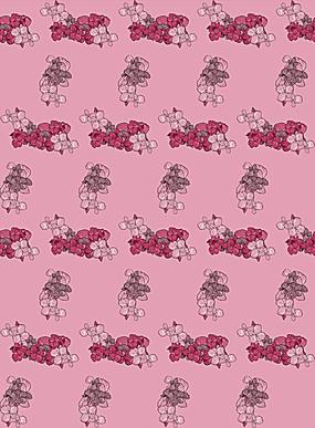 粉色小碎花线性阵列排布图