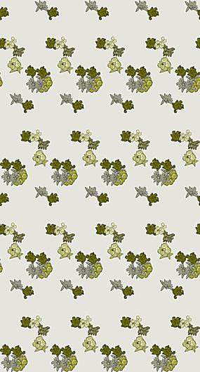 黄绿色小花阵列排布图