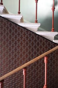 楼梯的扶手及墙纸意向
