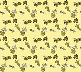 绿色黄色小碎花排布背景图