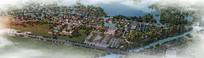 度假村景观鸟瞰图