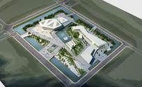 建筑景观鸟瞰素材图