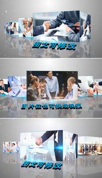 简洁大气3d企业宣传片头模板
