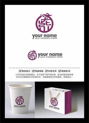 龙紫中文字体LOGO