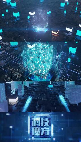 科技魔方数据虚拟AE模板