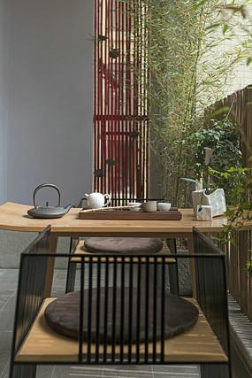中式迎客茶桌