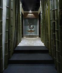 竹子元素餐厅走道意向